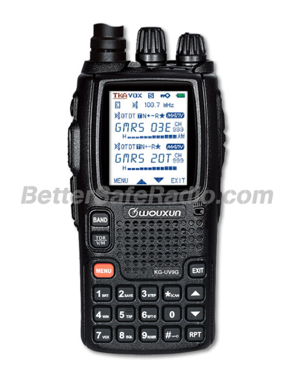 BSR Wouxun KG-UV9G PRO GMRS Two-Way Radio & SHTF Scanner