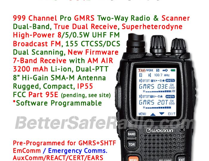 Finally, A Pro GMRS Two-Way Radio & SHTF Scanner That Delivers Peace of Mind!