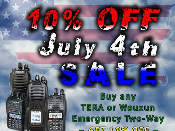 Celebrate American Independence and Save 10% on All Emergency Two-Way Radios!