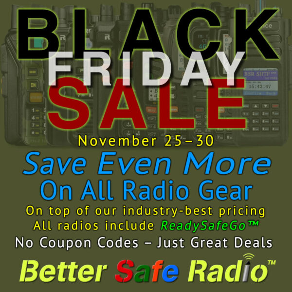 BetterSafeRadio Black Friday 2020 Sale Promo Image