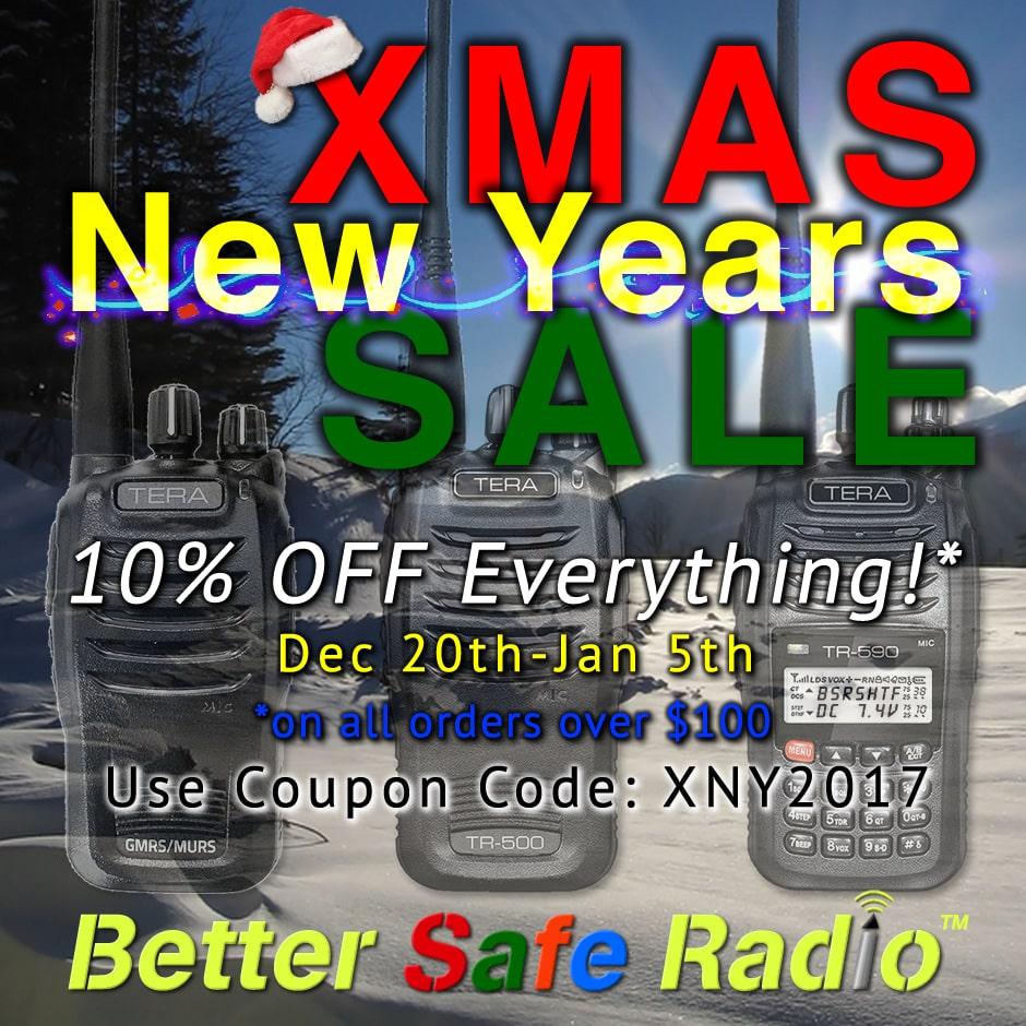 BetterSafeRadio XMAS New Years SALE 2017 Promo