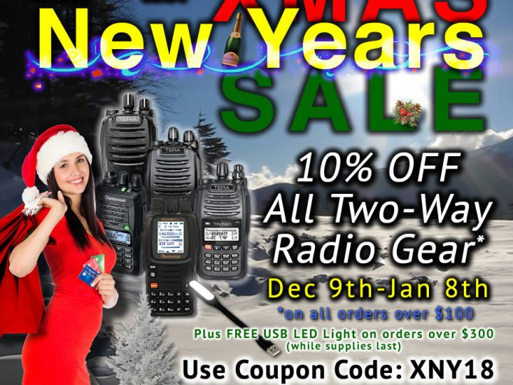 Xmas New Years SALE Month – Save 10% On All Two-Way Radio Gear!