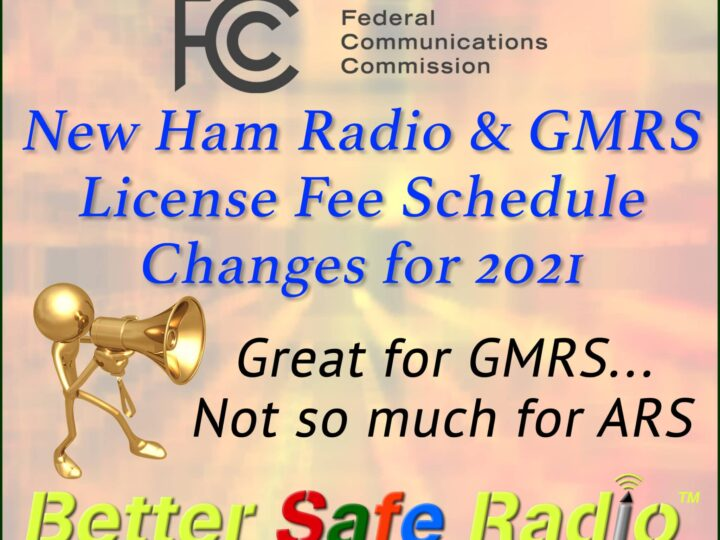 New $35 FCC License Application Fee for Ham & GMRS Radio Services