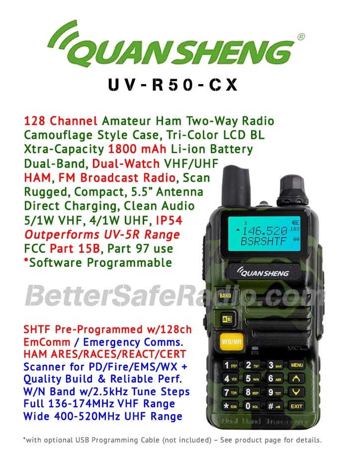 QuanSheng UV-R50-CX Amateur Ham Two-Way Radio - Flyer