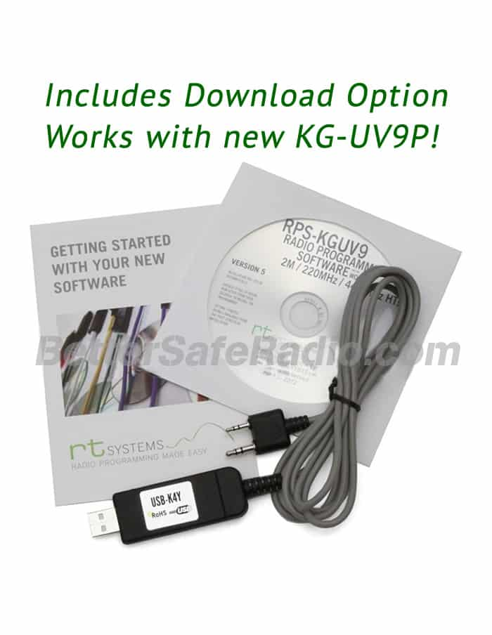 RT Systems Wouxun KG-UV9D(Plus) KG-UV9P Advanced Programming Software Cable Kit