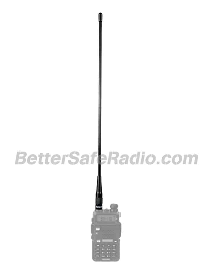 Retevis C9030A RHD-771-F 15.4 High Gain Dual-Band Handheld HAM Whip Antenna - Installed View
