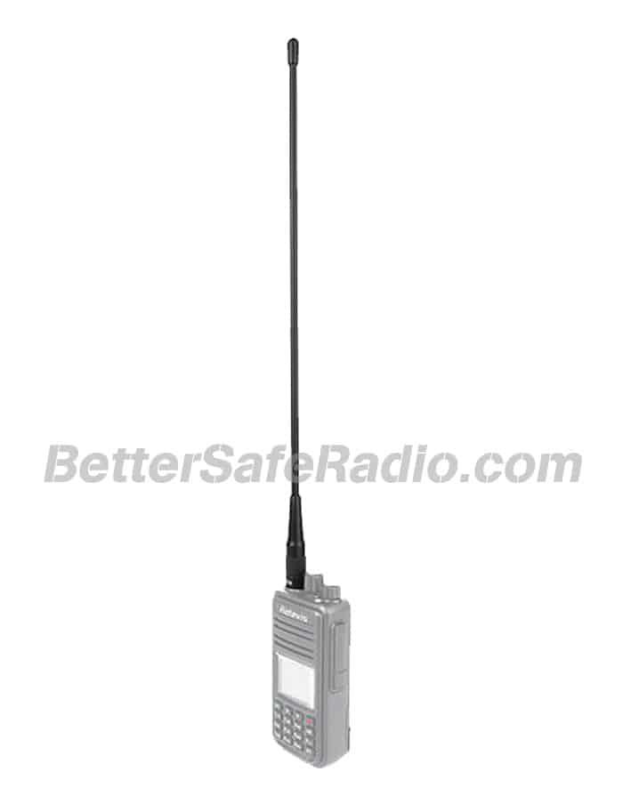 Retevis C9030M RHD-771-M 15.4 High Gain Dual-Band Handheld HAM Whip Antenna - Installed View