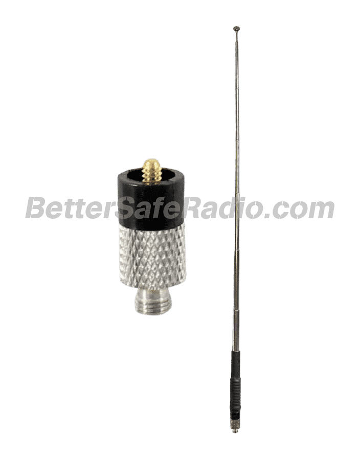 Smiley Antenna 46516B GMRS 465MHz 6-9dBd Gain 5–18in Telescoping 50W SMA-Female Antenna - Extended