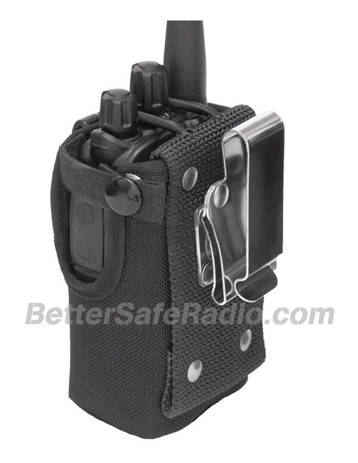 TERA CSC-590 Heavy Duty Nylon Windowed Radio Case - Back