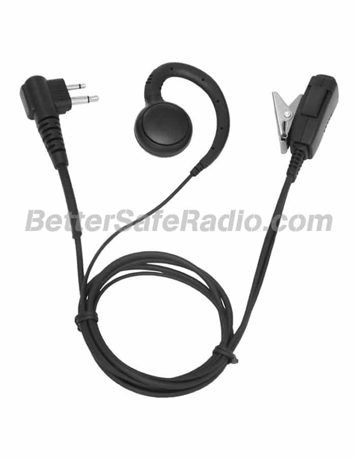 TERA GHK-50 Comfortable G-Hook Earpiece with Lapel Microphone