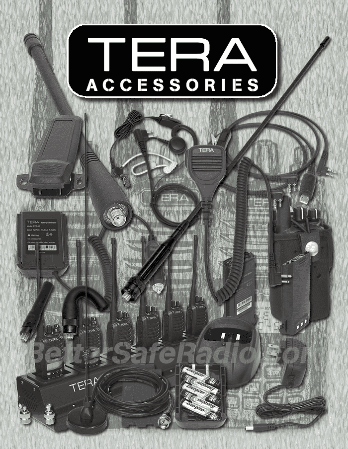 TERA 500-Series Handheld Two-Way Radio Accessories