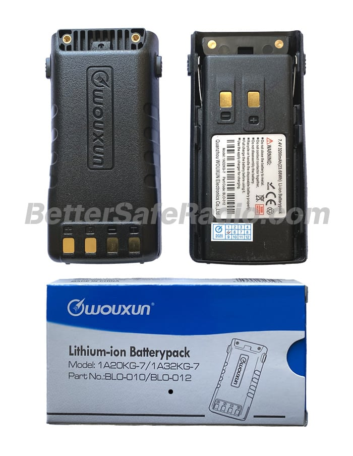 Wouxun BLO-012 BAT-9P Li-ion Battery Pack 3200 mAh