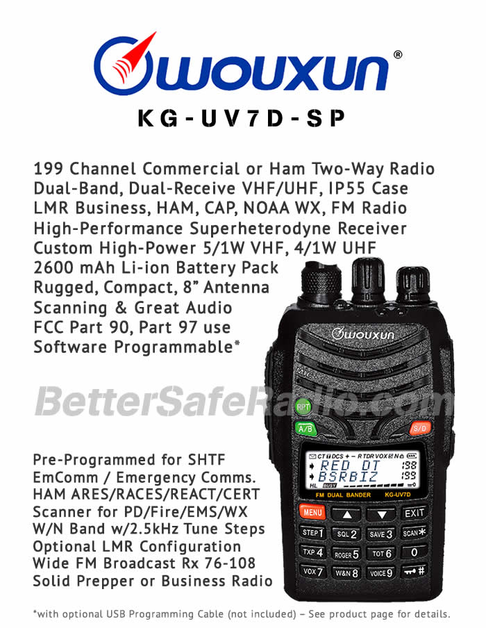 Wouxun KG-UV7D-SP Commercial LMR or Ham Two-Way Radio - Flyer