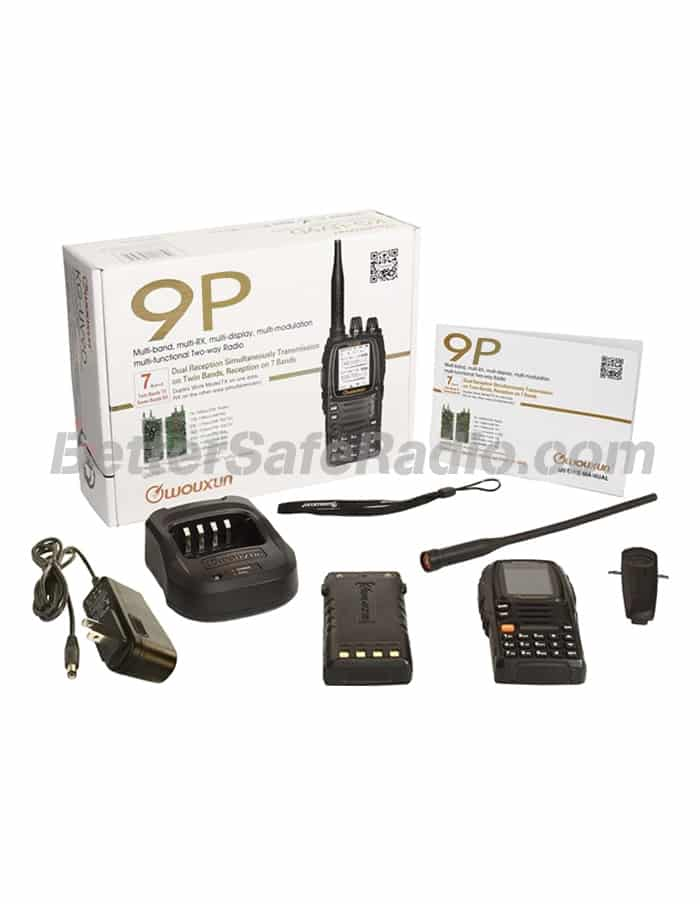 Wouxun KG-UV9P Amateur Ham Two-Way Radio - Box Contents Temp