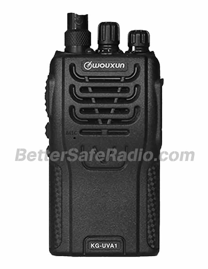 The front view of the Wouxun KG-UVA1 V2 Commercial Ham Two-Way Radio