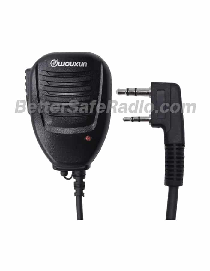 Wouxun SMO-002 Compact Speaker Microphone with Tx LED - Front Plug